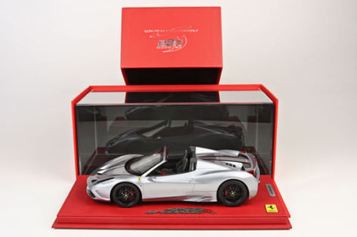 BBR 2014 Ferrari 458 Speciale A Open Silver alloy w/display 1/18 フェラーリ[USA直輸入][大人のミニカー][プレゼントにおすすめ][デイブレイク]
