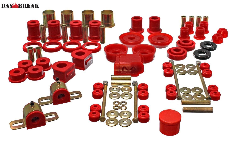 1993年~2002年 カマロ、ファイヤーバード用ウレタンブッシュキット 赤 エナジーサスペンション社製[USA直輸入][正規品][消耗品][足回り][デイブレイク]