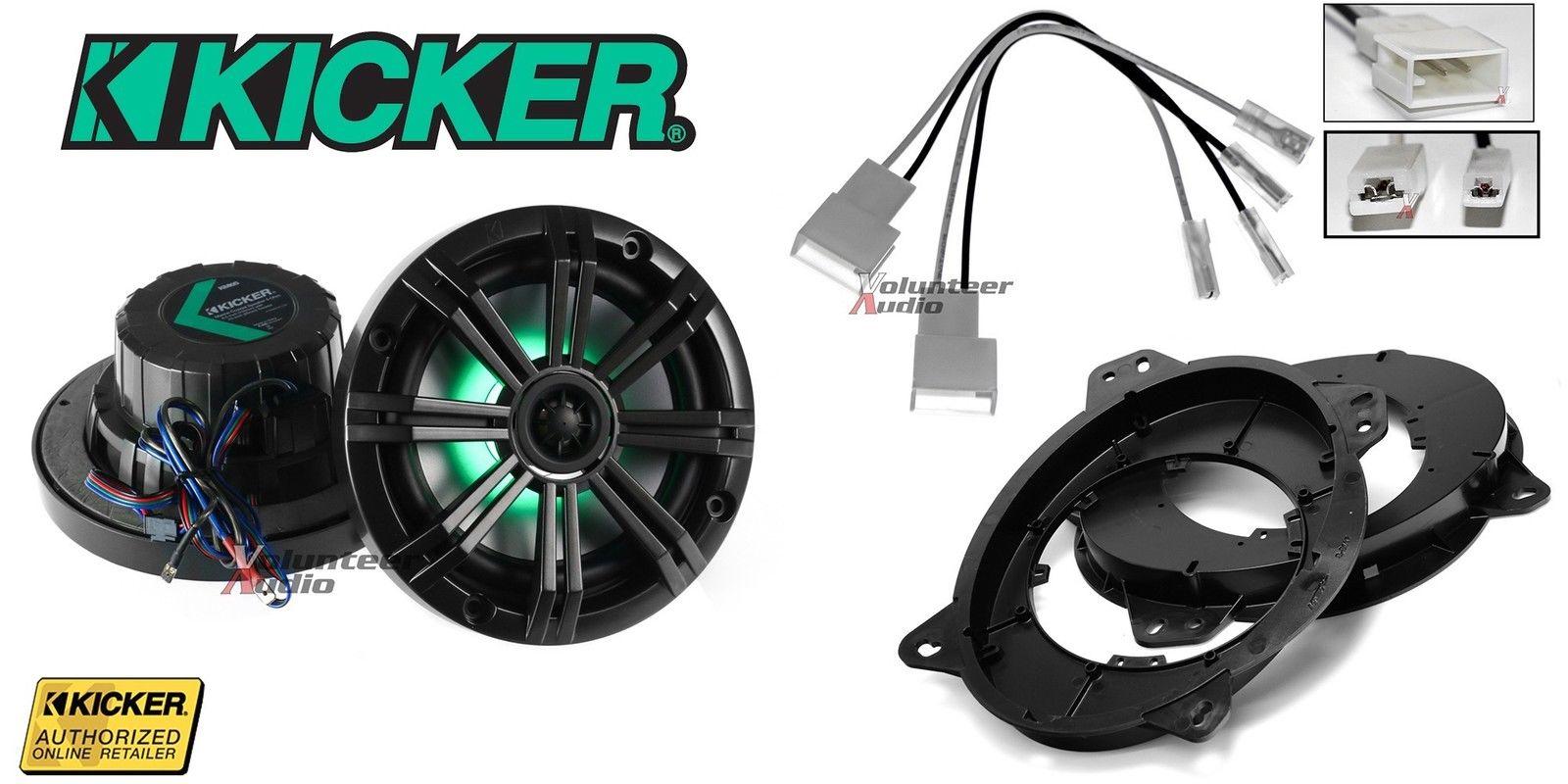 2007~現行 USトヨタ タンドラ用 キッカー社製LED付き フロントスピーカー左右+取付フルキット[国内最安値に挑戦][KICKER][音質アップ][アメ車][逆輸入車][デイブレイク]