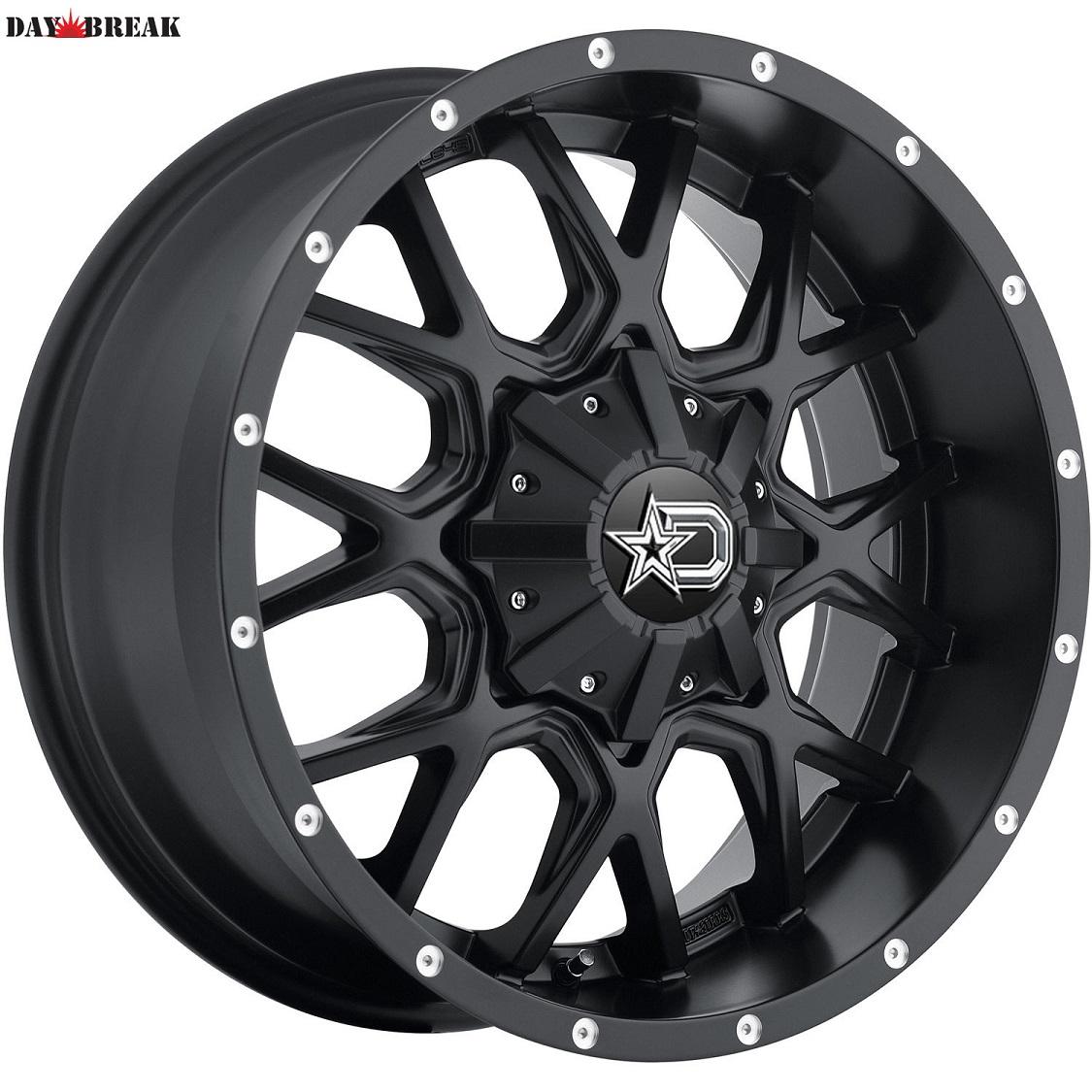 20x9 Black Dropstars 645B  5x150 +18 Rims Mud Grappler 33x12.50R20LT 33インチタイヤホイールセット[2007~タンドラ][2008~セコイア][ランクル200][アメ車][逆輸入車][デイブレイク]