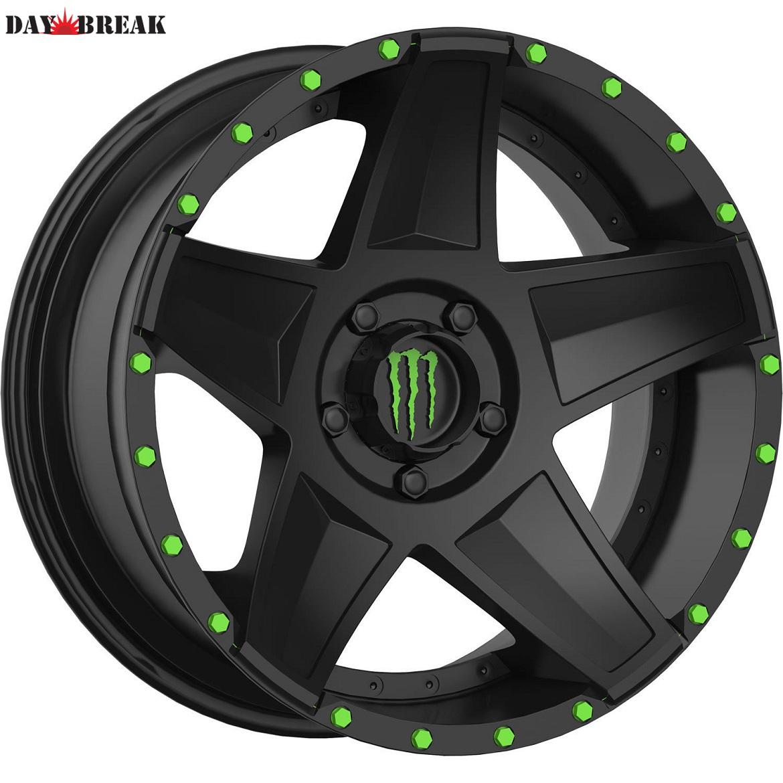 20x9 Monster Energy 648B 5x150 +18 33X12.50R20LT Toyo Open Country MT Tires 33インチタイヤ 20インチホイール セット[2007~タンドラ][2008~セコイア][ランクル200][アメ車][逆輸入車][デイブレイク]