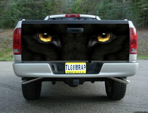 ピックアップトラック テールゲート デカール ステッカー汎用品 クロネコ [タンドラ][タコマ]などに [アメ車][逆輸入車][パーツ][デイブレイク]