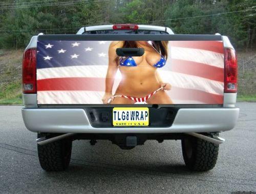 ピックアップトラック テールゲート デカール ステッカー汎用品 アメリカ国旗 モデルGAL [タンドラ][タコマ][シルバラード][ラムトラック][ラプター]などに [アメ車][逆輸入車][パーツ][デイブレイク]