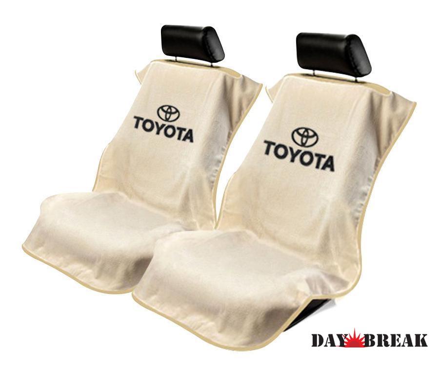 シートタオル ペアセット タン トヨタ タンドラ タコマ ランクルなどに[シートカバー][シートアーマー][コットン][ベロア][セットでお得[運転席][助手席][オールシーズン][アメ車][逆輸入車][デイブレイク]