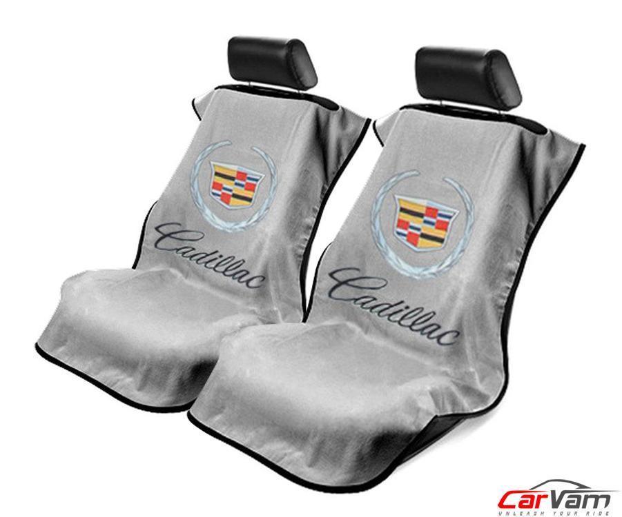 シートタオル キャデラック グレー ペア SRX エスカレード ESVなどに[シートカバー][シートアーマー][コットン][ベロア][海に][山に][セットでお得][アウトドア][アメ車][逆輸入車][デイブレイク]
