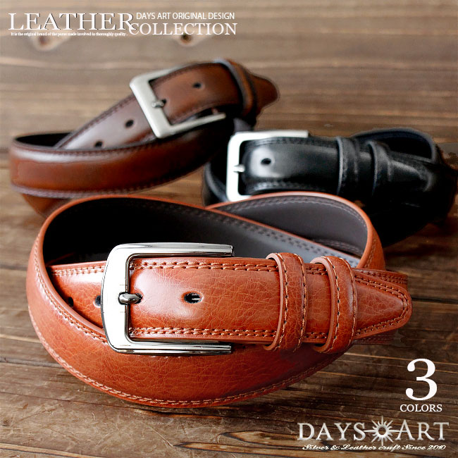 0bcf55295 Men s cowhide bikie leather belt FOMA Luke dual bt074 for the genuine leather  leather belt oil ...