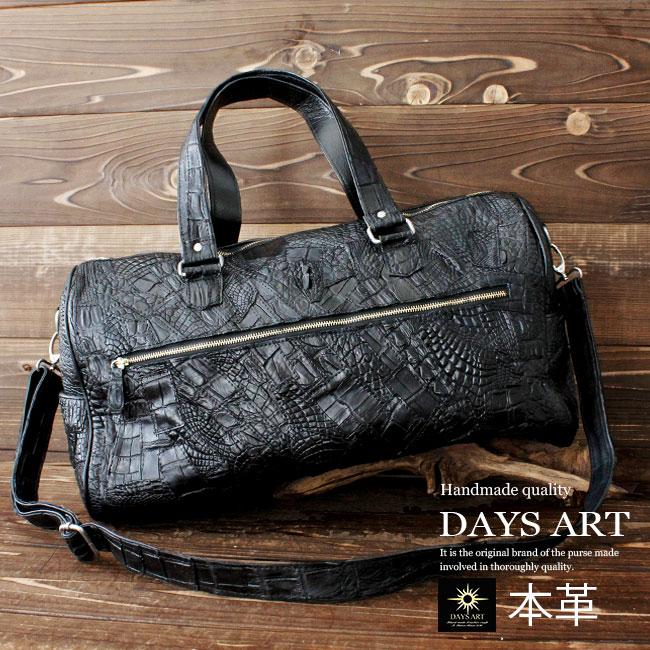 Genuine leather leather bag men Boston bag handbag shoulder bag crocodile  leather crocodile leather body seat belt patchwork trip bag  genuine leather  men ... b7499dcf657da
