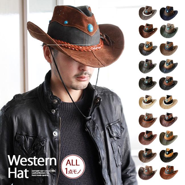 eda780fe Leather hat black / brown / beige / navy / multicolored hat004 made of western  hat