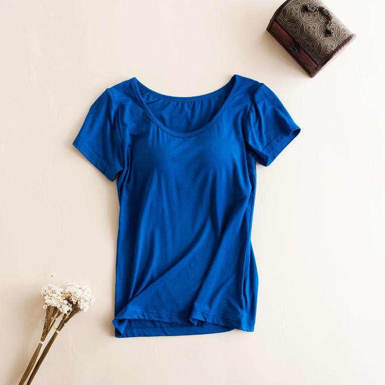 クーポン利用でSALE価格より更に25%OFF 【1480円が960円】 ブラトップ カップ付き 吸湿速乾 半袖Tシャツ  レディース インナー Tシャツブラ  シンプル  カットソー ストレッチ 伸縮性 大きいサイズ 2L 3L メール便