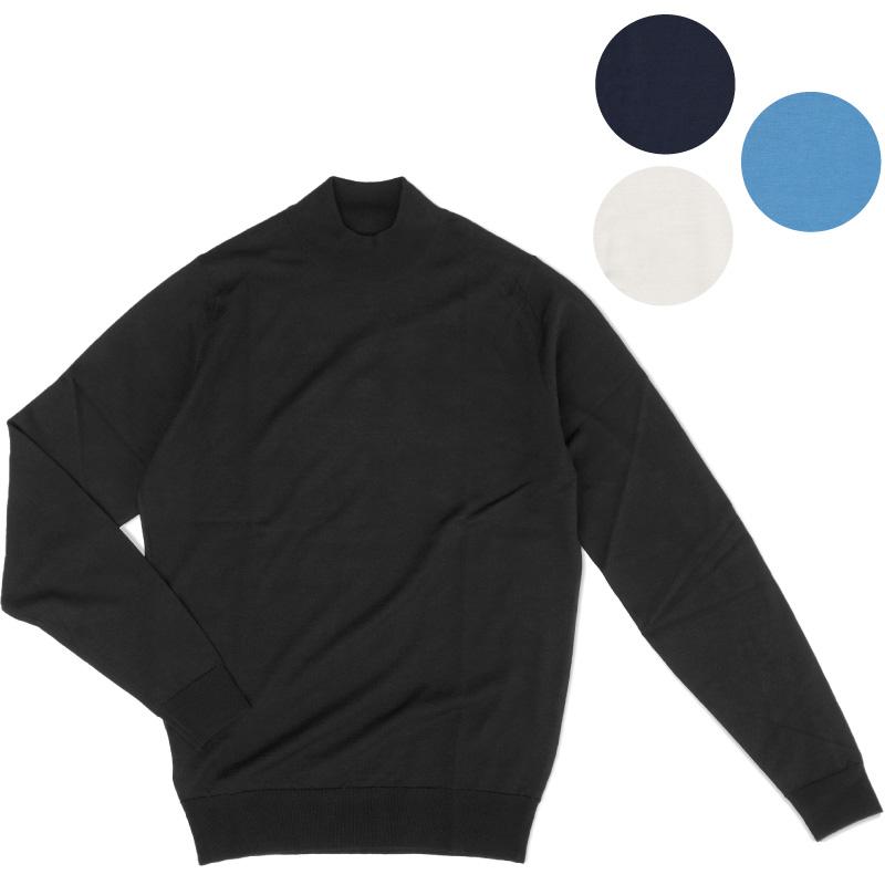【JOHN SMEDLEY】即納 ジョンスメドレー HARCOURT メンズモックタートルネックニット Extra Fine Merino Wool% ハーコート Mock Neck knit メンズ プレゼントにも最適