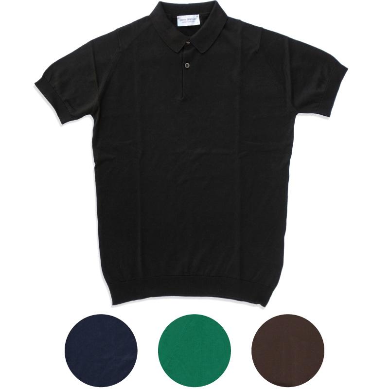 【JOHN SMEDLEY】即納 ジョンスメドレー RHODES メンズニットポロシャツ Sea Island Cotton100% Polo Shirt メンズ プレゼントにも最適