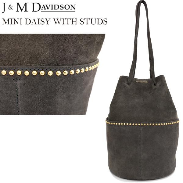 J&M DAVIDSON ミニデイジーウィズスタッズ スウェードレザー MINI DAISY WITH STUDS ALL SUEDE gold fitting 1428g/7440 ジェイアンドエムデヴィッドソン