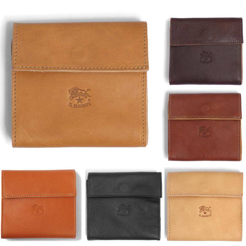 IL BISONTE イルビゾンテ 小銭入れ付き二つ折りレザー財布 C0455 ILBISONTE