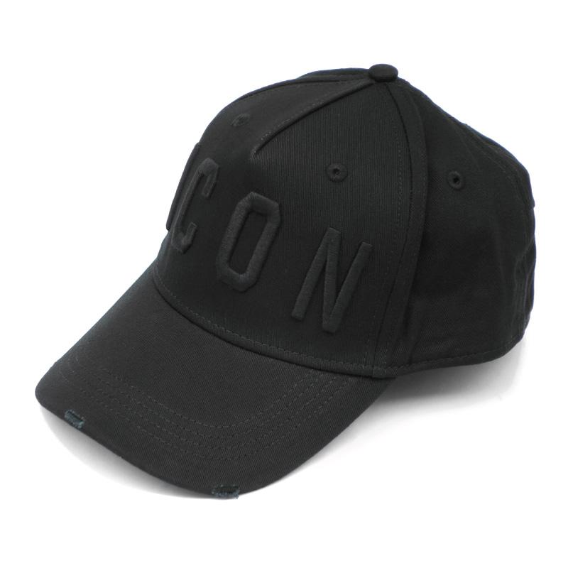国内在庫 21SS新入荷しました DSQUARED2 ディースクエアード メンズ ベースボールキャップ 帽子 M084 BCM4001 NERO-NERO BLACK 限定価格セール 05C00001 ICONロゴ