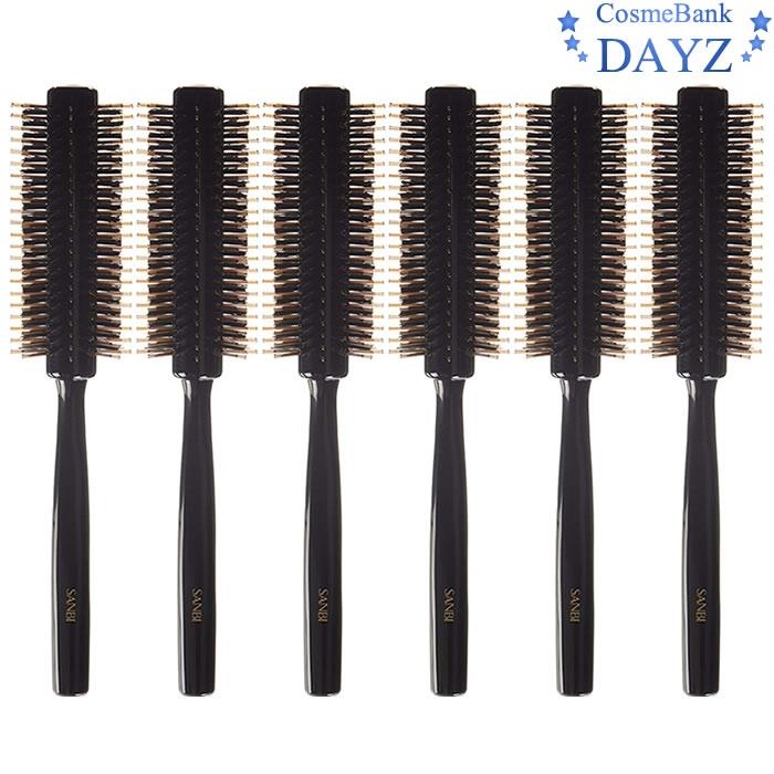 サンビー ブラシ BC-152 6点セット|ナイロン 豚毛 ペア植毛ブラシ|jブローブラシ|ロールブラシ|