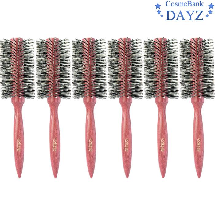 サンビー ロールブラシ R-352 6点セット|らせん植毛 ブローブラシ|