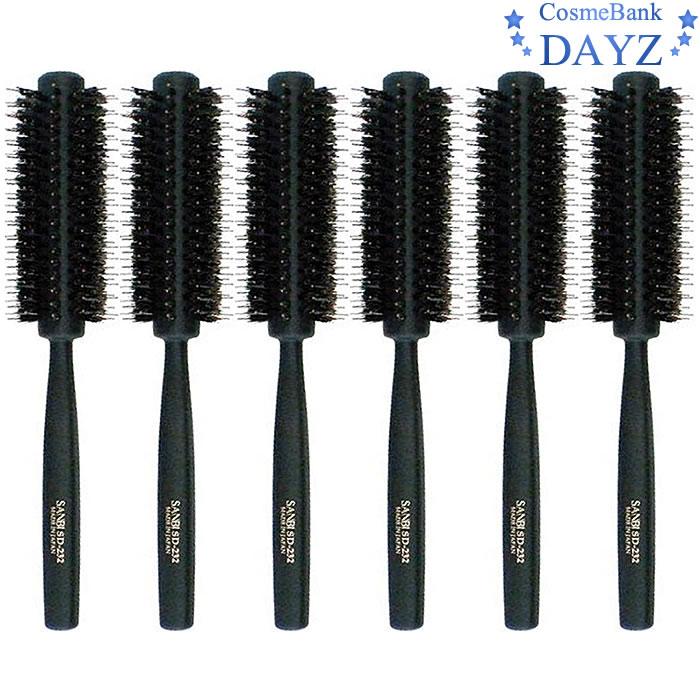 サンビー ロールブラシ SD-232 ブラック(黒) 6点セット|ミックス植毛 ロールブラシ|
