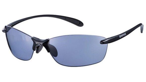 メーカー取り寄せ受注後在庫の有無連絡しますSWANSサングラスAirless-LeaffitSALF-0067BK色★フレームカラーブラック×ブラックレンズ偏光アイスブルー偏光レンズ搭載白がくっきり見える。ゴルフに