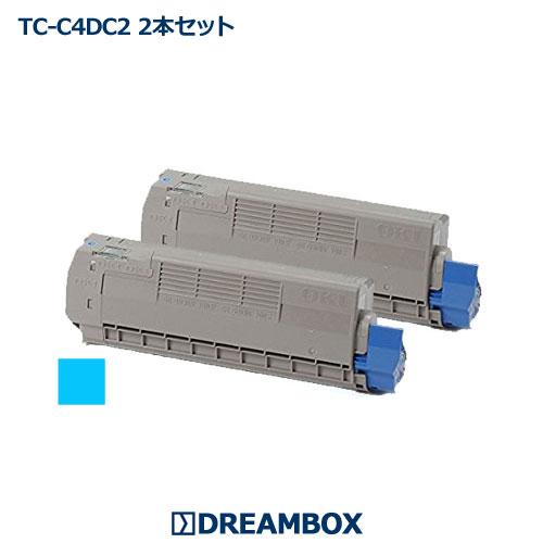 TC-C4DC2 シアントナー(2本セット) リサイクル C612dnw対応