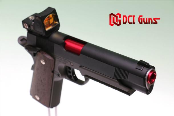 東京マルイ M45A1/1911/MEU用11mm正ネジメタルアウターバレル 赤 赤 レッド エアガン エアーガン ガスガン ブローバック  カスタム サバゲー サバイバルゲーム サイレンサー トレーサー DCI Guns