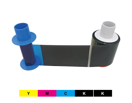 再転写用カラーリボン YMCKK(表カラー裏ブラック)型番:84512、FARGOカードプリンタHDP5600シリーズ両面対応機専用