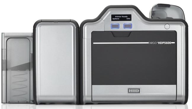 HDP5600シリーズ再転写式カラーカードプリンタ両面印刷対応機(93640)カード全面に印字ができてICカード(FeliCaやMifare)への印字も可能。高解像度600dpiで小さな文字も綺麗!【代金引換不可】