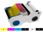 6パネルフルカラーリボンYMCKO+K(両面用:表カラー+裏ブラック)型番:44210FARGOカードプリンタ ペルソナC30eD用