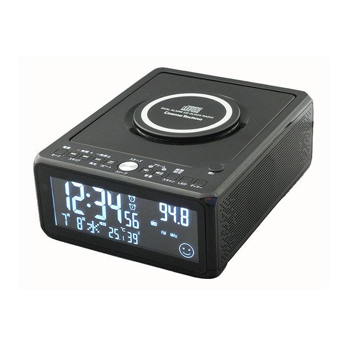 CDクロックラジオ(CD-CLR3J)CDプレーヤー、ラジオ機能、目覚まし機能、スリープタイマー機能、時計表示、カレンダー表示、熱中症予防警告機能付き、インフルエンザ予防警告機能付き