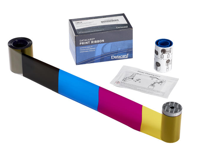 YMCKT-Kカラーリボンキット 375枚/巻 (CD800両面機専用) 535000-007