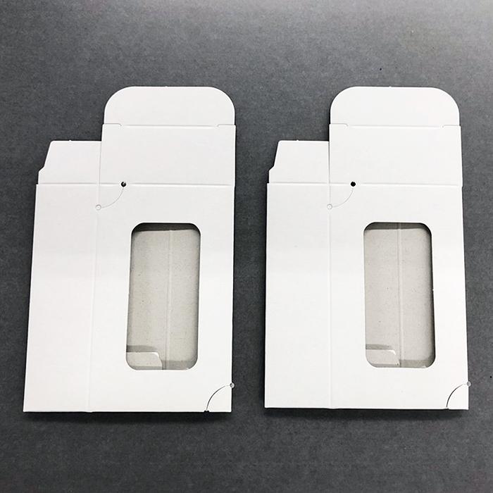 名刺紙箱DC 500個(500個/包) 窓付き組み立て式 白色 紙厚0.23mmまで100枚収納可 DC-BOX500