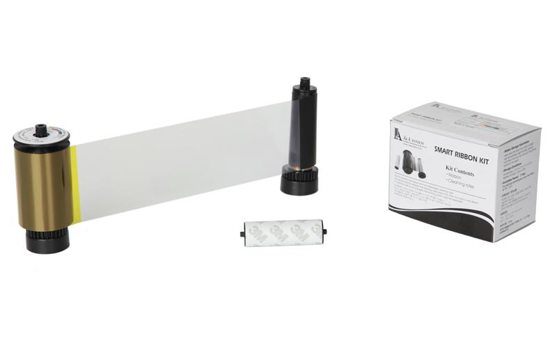 片面カラー+ブラックライトインクリボン SS-YMCFKO (カラーリボンUV蛍光パネル/黒/オーバーレイ)200面/巻 GRASYS ID200/ID200W用