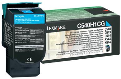 C540H1CG シアンリターンプロク゛ラムトナーカートリッジ(大容量/2000枚) C540n/C543dn/C544n/C544dn/X54x用