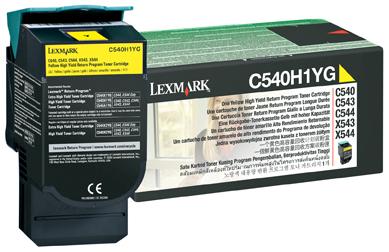 C540H1YG イエローリターンプロク゛ラムトナーカートリッジ(大容量/2000枚) C540n/C543dn/C544n/C544dn/X54x用