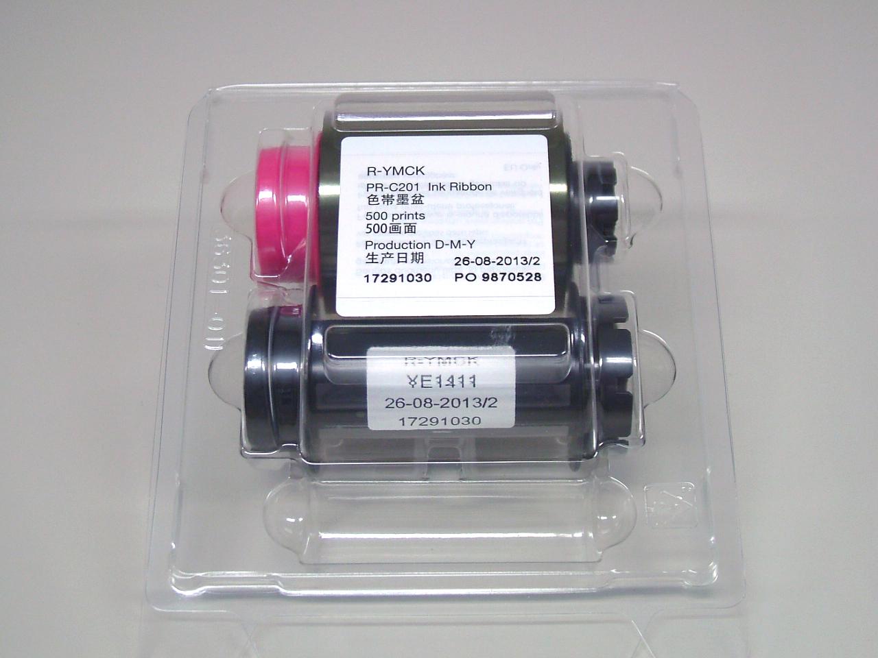 再転写用カラーリボン YMCK  500面/巻 (再転写式カードプリンタPR-C201用)