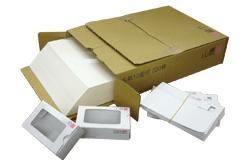 ホワイトを基調としたA4サイズのFSC森林認証紙です ワンタッチ式名刺紙箱が同梱されています A4名刺用紙 FSC森林認証 ホワイトプリンス N CoC ホワイト系 ※レーザープリンタ用です 裁断機にて裁断加工してください 紙厚0.196mm 220枚入り 名刺カッター 代引き不可 印字後 本物 高価値 141140
