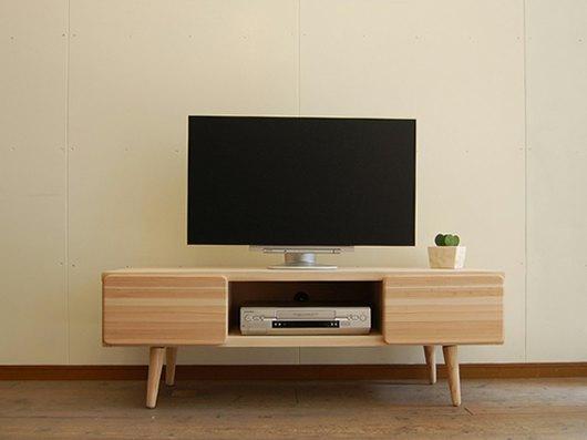 CEDAR CRAFT 130TVボード北欧テイスト ミッドセンチュリー テレビ台 テレビボード木製 ローボード 日本製 国産 TV台 無垢 杉 シンプル ナチュラル