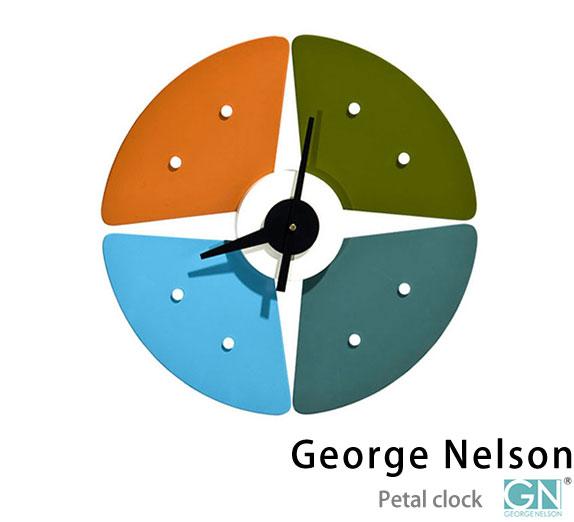 ジョージネルソン ペタル クロックアメリカンミッドセンチュリー デザイナーズ 時計 クロック スチール