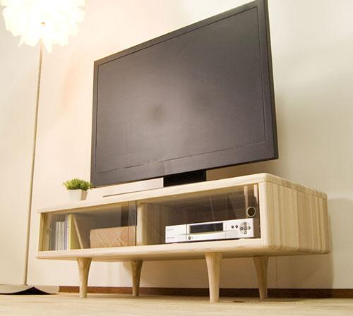 杉のROTON 110TVボード無垢 天然木 無垢材 テレビ台 テレビボード ローボード 日本製 木製 収納 ラック ナチュラル リビング 杉 北欧 国産 大川 家具 無垢 送料無料