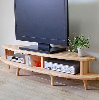 杉のNAMI TVボード無垢 天然木 テレビ台 テレビボード ローボード 日本製 木製 収納 ラック ナチュラル リビング 杉 北欧 国産 大川 家具 無垢