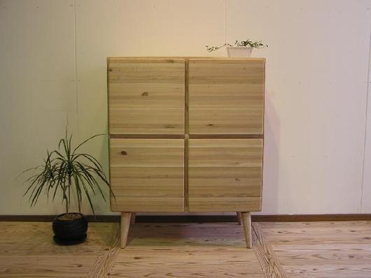 CEDAR CRAFT セダークラフト キャビネットA北欧テイスト ミッドセンチュリー 収納木製 サイドボード 日本製 国産 無垢 杉 シンプル ナチュラル