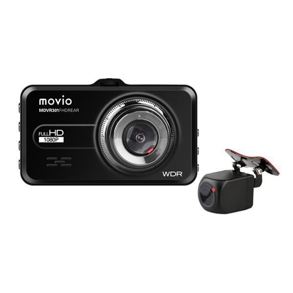 リアカメラ搭載 2カメラで前後を記録 あおり運転対策に 大特価 ナガオカ 信用 NAGAOKAドライブレコーダー MDVR301FHDREAR Full 駐車監視機能付き 200万画素 前後カメラ対応 movio 超歓迎された 一体型 HD