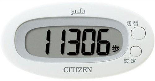 ネコポス ポスト投函 配送 シチズン CITIZEN ホワイト 新生活 業界No.1 デジタル歩数計 TW310-WH peb