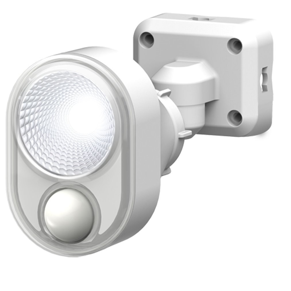 北海道 メーカー公式ショップ 沖縄 新作通販 お届け不可 ムサシ RITEX フリーアーム式LEDセンサーライト 4W×1灯 ホワイト コンセント式 防雨タイプ LED-AC103
