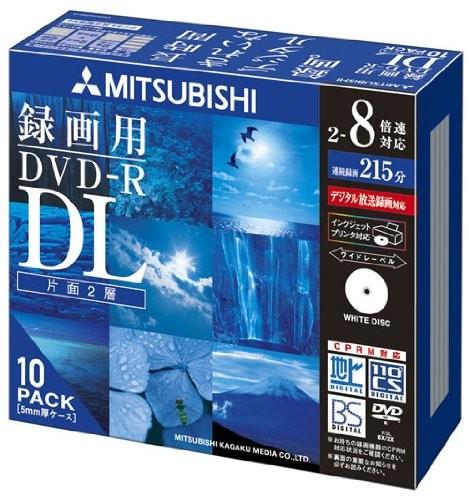 北海道・沖縄 お届け不可 三菱ケミカルメディア Verbatim 1回録画用 DVD-R DL (片面2層/2-8倍速/10枚) VHR21HDSP10