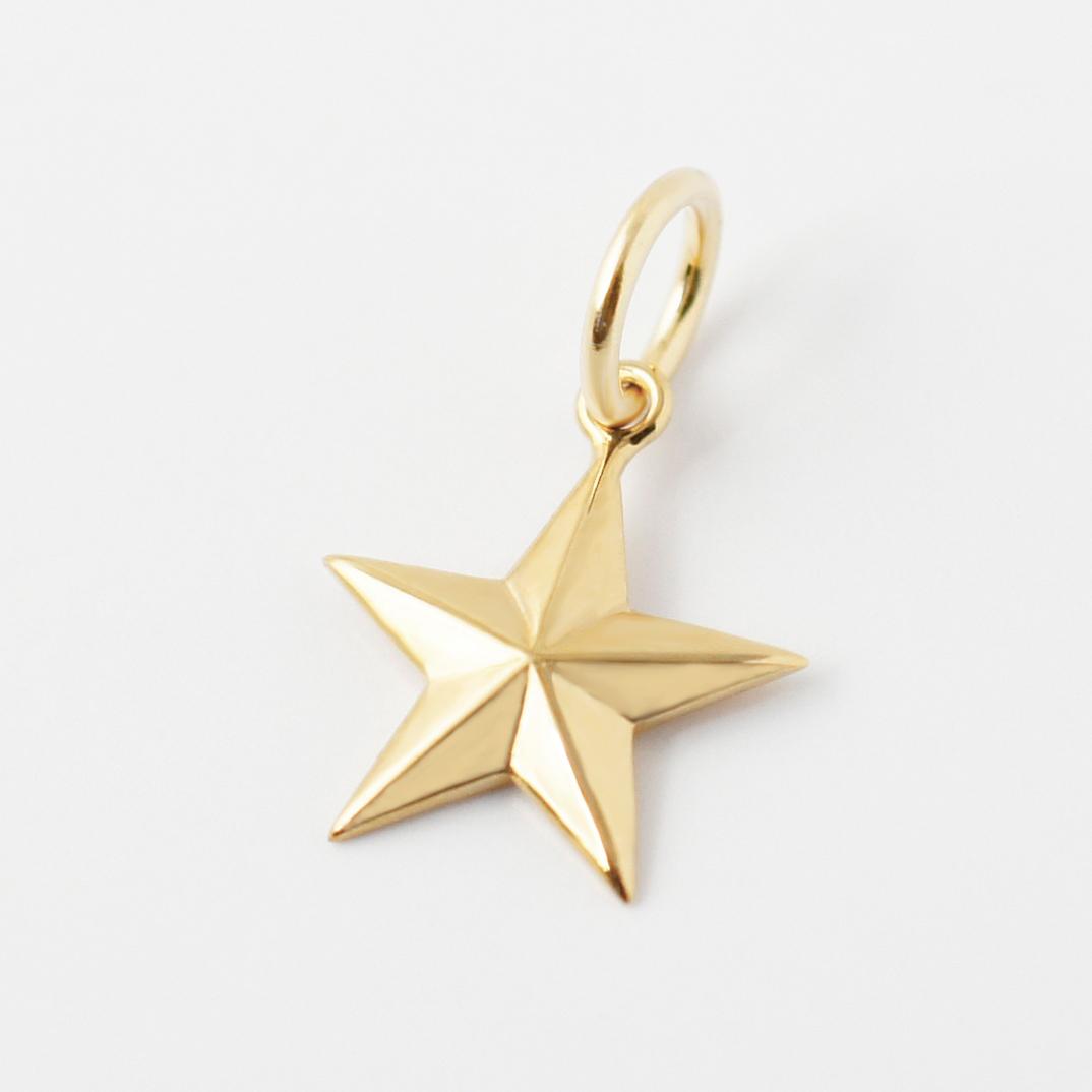 k18 ゴールド ネックレス ペンダントトップ 星 スターチャーム 18金 お守りジュエリー 重ね付け 華奢 HA-1