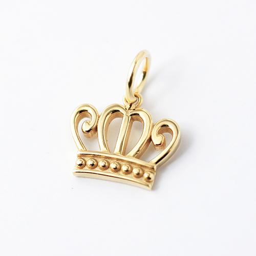 k18 ゴールド ネックレス ペンダントトップ 王冠 クラウンチャーム 18金 お守りジュエリー 重ね付け 華奢 HA-4