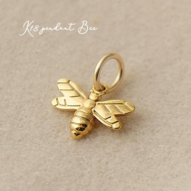 k18 ゴールド ネックレス ペンダントトップ ミツバチ チャーム 蜜蜂 18金 お守りジュエリー 重ね付け 華奢
