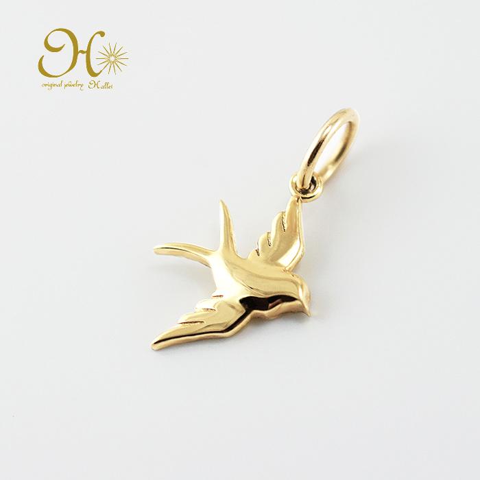 k18 ゴールド ネックレス ペンダントトップ ツバメチャーム つばめ 18金 華奢 お守りジュエリー 鳥 重ね付け 安い 価格 交渉 送料無料 激安 プチプラ 高品質