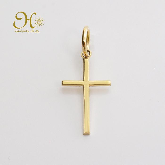 k18 ゴールド ネックレス ペンダントトップ 十字架 送料無料激安祭 重ね付け クロスチャーム 華奢 お守りジュエリー 全国一律送料無料 18金