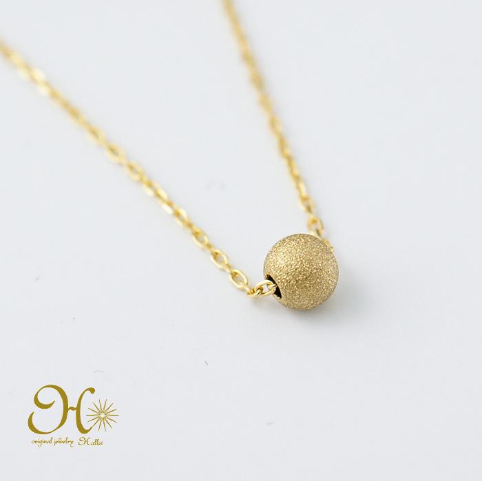 k18 ゴールド スターダストボール ネックレス 18金 重ね付け 華奢ジュエリー 一粒ネックレス 無料ラッピング ギフト